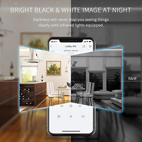 APEMAN WiFi Camera 1080P IP Wireless Surveillance Home Security Camera Cloud Service 2-way Audio Night Vision CCTV Cam Motion Detection by APEMAN (Image #2)