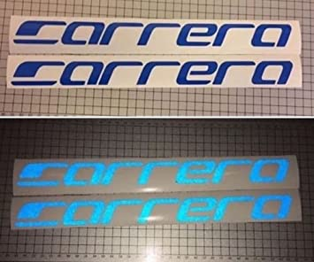 Reflx 2x BLUE Reflective Carrera Bike Sticker Decal Mountain bike Logo MTB
