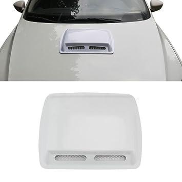 Universal Car Decorative Air Flow Intake Hood Scoop Vent Bonnet ABS Engine Cover
