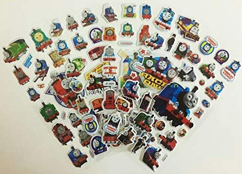 - Chaoiwah Thomas Stickers 3D 4 Sheets and one More Free Sheet Sticker Totally 5 Sheets per Pack