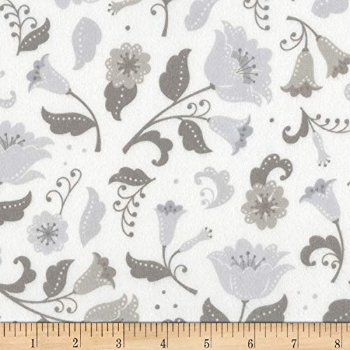 Robert Kaufman Fleurie Flannel Large Florals Fabric, Haze, Fabric By The Yard