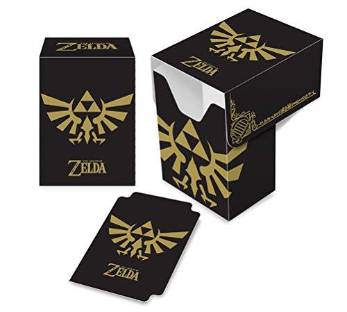 - Ultra PRO Legend of Zelda - Hyrule Crest Full-View Deck Box (Black & Gold)