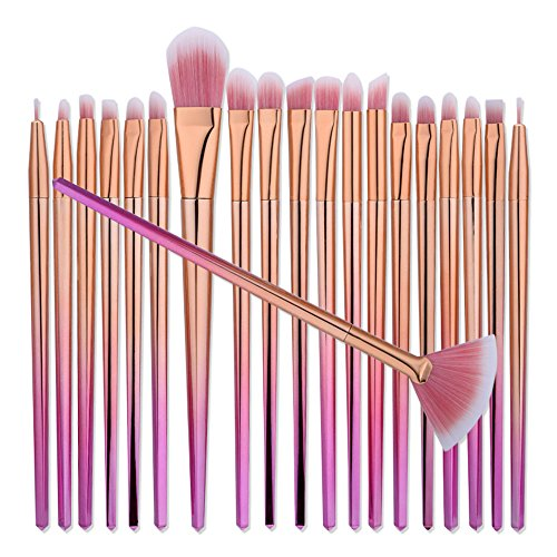 Cinidy 20pcs Eye Brushes Set Cosmetic Eyeshadow Eyeliner Blending Pencil Makeup Brush Kit Beauty Cosmetic Tools (Eye Area By Bioelements)