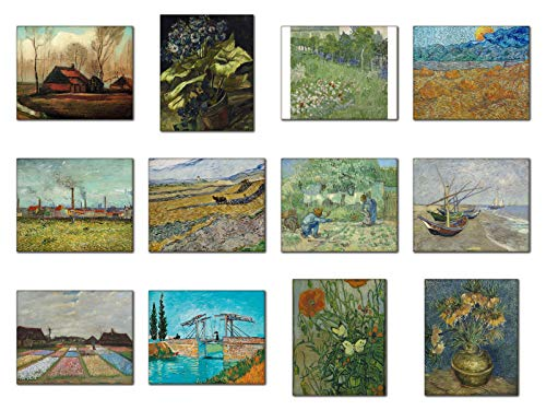 (Wish Pub - Set of 12 Unframed Wall Art Prints, Vincent van Gogh, 8x10 Inch, Colorful Landscape Series 04 of 17)