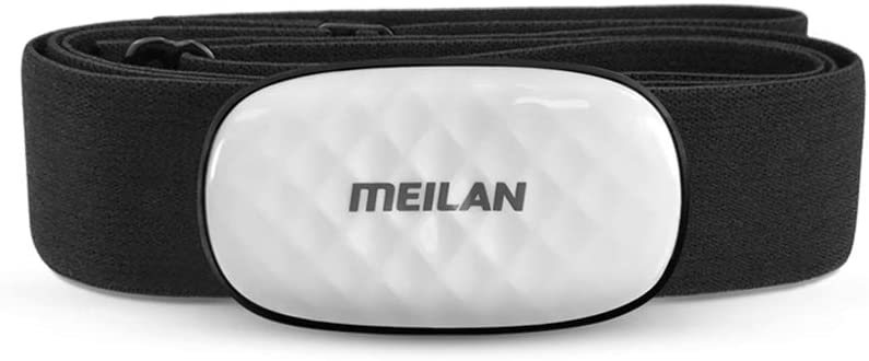 MEILAN C5 Heart Rate Sensor Fitness Tracker HR Monitor Heart Rate Monitor Chest Strap Bluetooth/ANT+ Wireless for iPhone, Android and Bike Computers