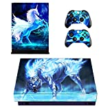 Zhuhaijq X21 Series Sticker Protective case for Xbox One X Console Skin Sticker Personalised Vinyl Decal Sticker + 2 Xbox One X Controller Decal Skin Sticker