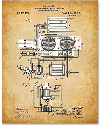 - 11x14 Unframed Patent Print - Great Gift for HVAC Technicians ()