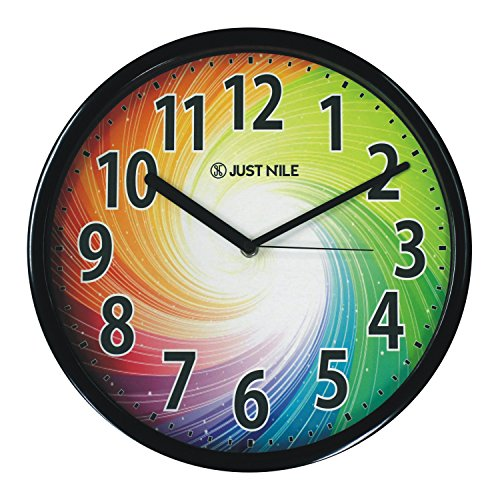 "JustNile 13"" Creative Round Silent Wall Clock - Colorful"