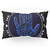 Society6 Me & Paranormal You - James Roper Design - Palmistry (white Lettering) Pillow Sham King (20'' x 36'') Set of 2