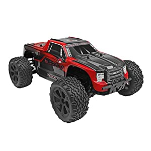 Redcat Racing Blackout XTE 1/10 Scale Electric Monster Truck with Waterproof Electronics, Red