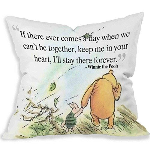 HONGYUD ABartonArtsale Cute Love Quote Winnie The Pooh The for Parents are Essential to The Home of a Cotton Linen 18x18 inch Pillow case f1016 ()
