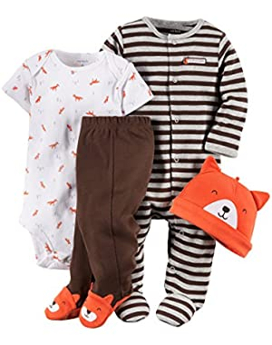 Carter's Orange Fox 4 Piece Sleep & Play Set Newborn