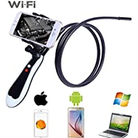 D-CLICK HD 720P 2.0 Megapixel WiFi Handheld Endoscope Camera 1M (10FT) Rigid Wire CableWaterproof 8.5mm Diameter foriPhone, Android System Phone / Tablet and Windows System (Handle)
