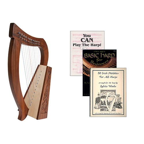 Homeschool Music Baby Harp w/Introduction to Harp Book Bundle + Irish Melodies by Homeschooling Harps