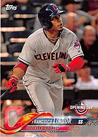 05181fbaa 2018 Topps Opening Day  39 Francisco Lindor Cleveland Indians Baseball Card