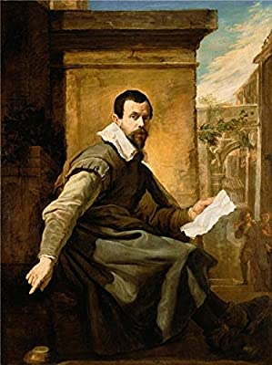 Oil Painting 'Portrait Of A Man With A Sheet Of Music,1620 By Domenico Fetti' 10 x 13 inch / 25 x 34 cm , on High Definition HD canvas prints, gifts for Bath Room, Game Room And Powder Room Decoration