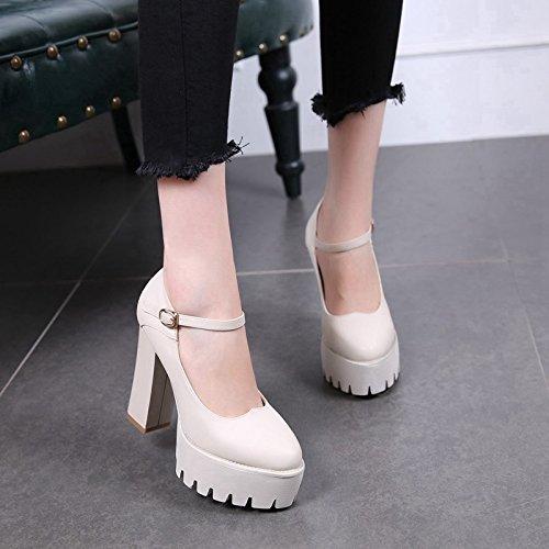 MDRW-11Cm De Tacon Alto Solo Zapato Mujer Oto ntilde o 1357a4c91910