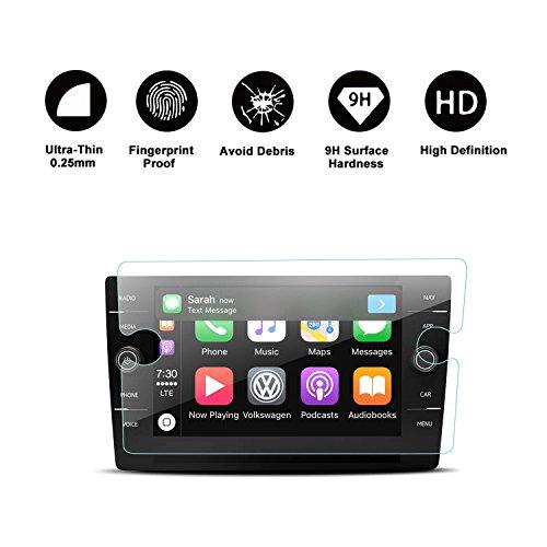2018 Volkswagen Tiguan VW Touch Screen Car Display Navigation Screen Protector, R RUIYA HD Clear TEMPERED GLASS Car In-Dash Screen Protective Film (8-Inch) by R RUIYA