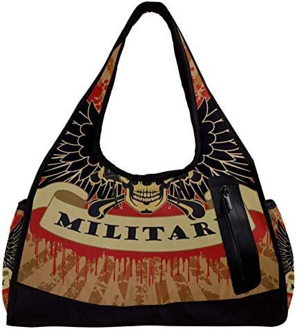 スポーツバッグ ジムバッグ スカル 髑髏柄 ダッフルバッグ ショルダー 手提げ バッグ レディース メンズ スポーツ アウトドア トートバッグ