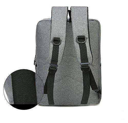 SODIAL Rucksack Tasche Reisen Maenner Rucksack Laptop Schule Wandern Schulter Laptop (grau)