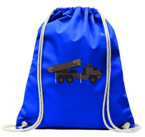 Turnbeutel ARMEE- ARTILLERIE- SCHLACHT- BRAZILIEN- KANONE- KRÄFTE- BODEN- MILITÄRISCHE- RAKETE- SOLDAT- KRIEG- WAFFE mit Kordel - 100% Baumwolle- Gymbag- Rucksack- Sportbeutel Blau opoSGZF6ze