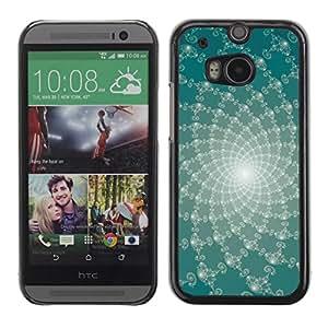 Smartphone Rígido Protección única Imagen Carcasa Funda Tapa Skin Case Para HTC One M8 Abstract Floral Lines / STRONG