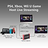 MiraBox Capture Card,USB 3.0 HDMI Game Capture Card Device With HDMI Loop-out Support HD Video HDCP 1080P Windows 7 8 10 Linux Youtube OBS Twitch for PS3 PS4 Xbox Wii U Streaming and Recording, HSV321