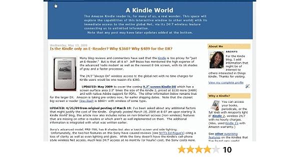 Amazon Com A Kindle World Blog Andrys Basten Kindle Store