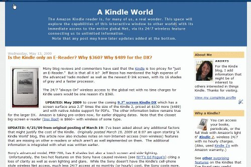 Amazon com: A Kindle World Blog: Andrys Basten: Kindle Store