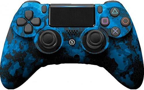PS4 PC Controlador de Scuf IMPACTO Digital Camo Azul: Amazon.es ...