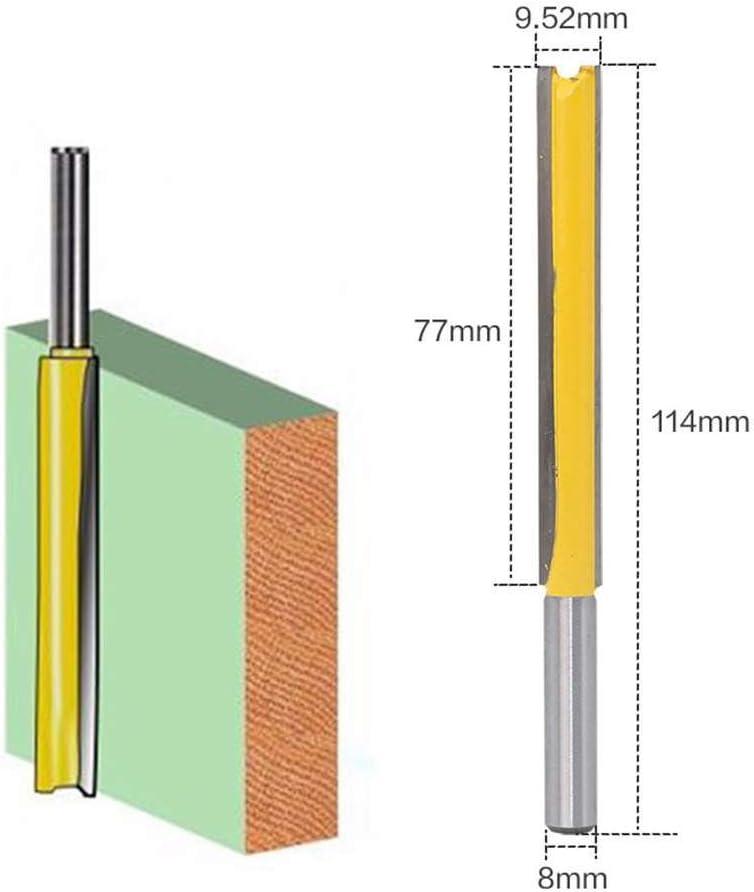 Chowcencen Wx2 H 2 Flauta 3//8 Espiga Larga Recta Wx2 H Fresa bit Tratamiento de la Madera de Corte de la Cuchilla Recortadora para la Herramienta de energ/ía