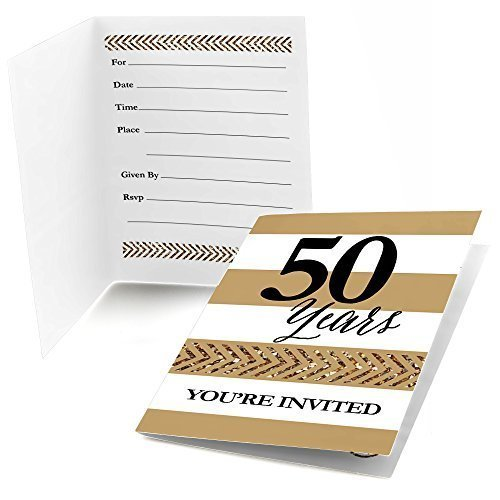 We Still Do - 50th Wedding Anniversary - Fill In Anniversary Party Invitations (8 count)