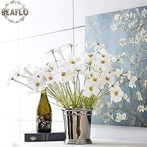 HATABO Fake Plants Flower Heads Silk 4 PC DIY Vivid Artificial Flower Primrose Silk Flower Fake Plant Three Heads for Wedding Home Party Decorative 4 Colors (Random) 100