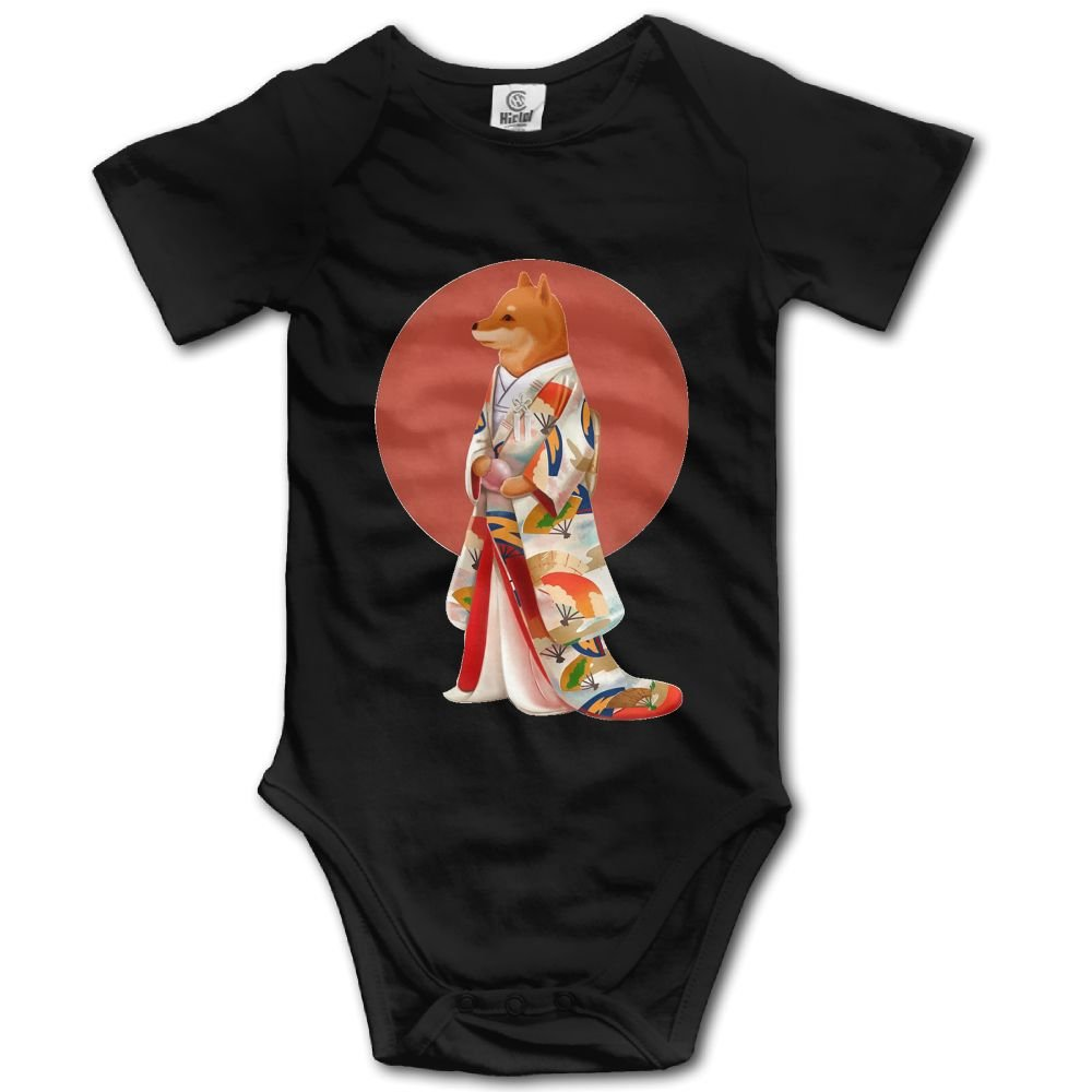Rainbowhug Shiba Inu Dog Unisex Baby Onesie Cartoon Newborn Clothes Funny Baby Outfits Soft Baby Clothes