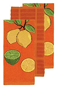 All-Clad Textiles Kitchen Towel Set - 3 Pack - 100% Cotton, Soft and Durable, Fiber Reacitve Printed for Lasting Colors, Highly Absorbant