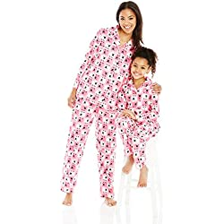 Dollie & Me Little Girls' Mommy and Family Sheep Pajamas, Pink/Multi, 5