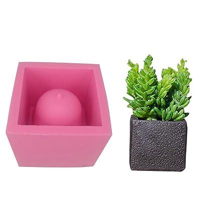 Molde de Silicon fancylande DIY cuadrado cemento flor maceta silicona molde artesanía plantas maceta hormigón Planteur