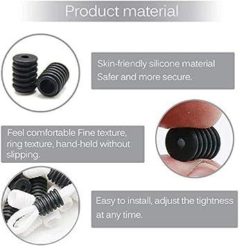 50 White + 50 Black Cord Locks Silicone Toggles for Drawstrings Elastic Cord Rope Adjuster Buckles Non Slip Stopper
