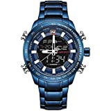 Wrath Royal Blue Shadow Screen Analog Digital Multi Function Watch for Men's & Boys (NF9093_BE/BE).