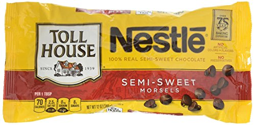 NESTLE TOLL HOUSE Real Semi-Sweet Chocolate Morsels 12 oz. Bag by Nestle