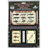 Rivers Edge Products Antique Lure Playing Cards In Gift Tin
