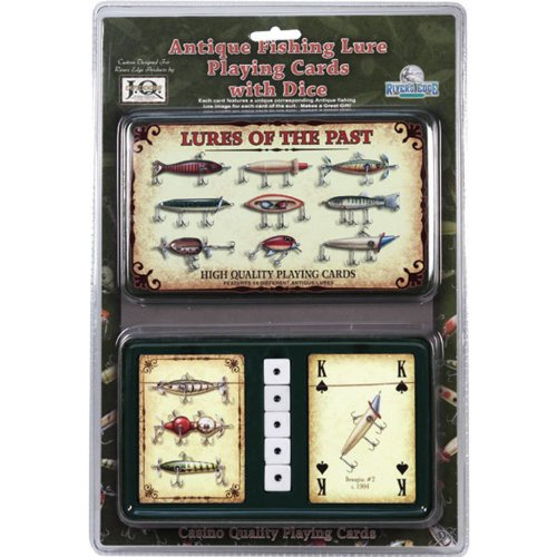 Rivers Edge Products Antique Lure Playing Cards In Gift Tin made our list of Gifts For Active Women, Gifts For Women Who Hike, Gifts For Women Who Fish, Gifts For Women Who Camp