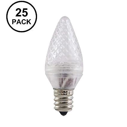 aurio lighting led c7 green replacement christmas light bulbs commercial grade holiday bulbs 3