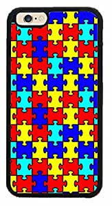 Autism Puzzle Pieces (CLEAR SIDES) Plastic Phone Case Back Cover iPhone 6 Plus (5.5) inches)