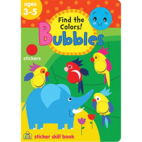 School Zone Bubbles Sticker Skill Book, Find and Color