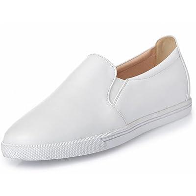 3c1e89f2f64 La Sra primavera y otoño ronda los zapatos del elevador pendiente con los  zapatos ocasionales de los zapatos de tacón bajo para ayudar a los  conjuntos bajas ...