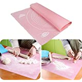 Kurtzy® Cake Mat - Large Dough Pastry Silicone Rolling Work Mat With Measuring Guide For Sugarcraft Cake Decorating