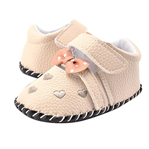 Voberry Infant Toddlers Baby Girls Soft Soled Embroidered Crib Shoes (6~12 Month, A)