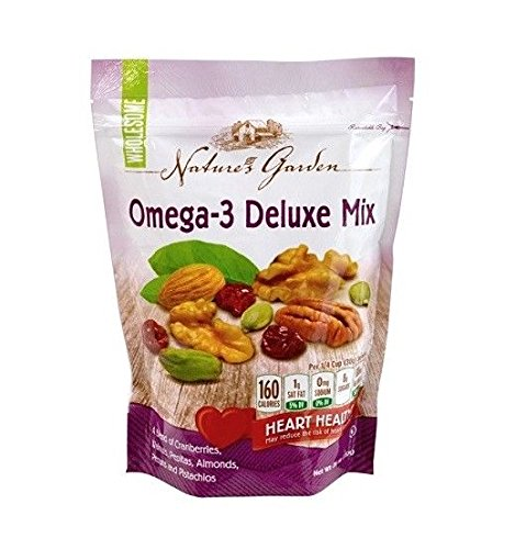 Thin Deluxe - Nature's Garden Omega-3 Deluxe Nut Mix, 26 ounce (Pack of 3)