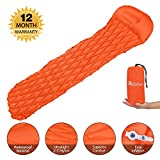 Sleeping Pad, Relohas Camping Mattress Lightweight Inflatable Outwell Mat with Pillow and Unique Buckle Design for Outdoor Hiking and Camping